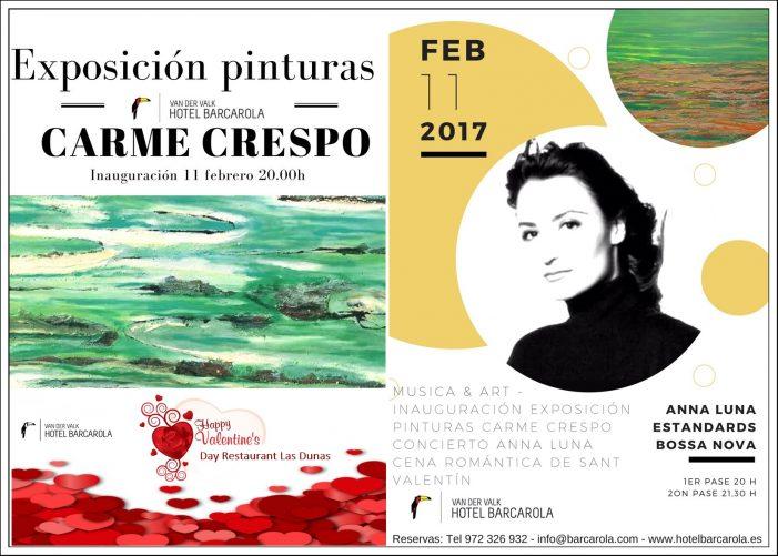 Exposició de Pintures Carme Crespo i concert d'Anna Luna