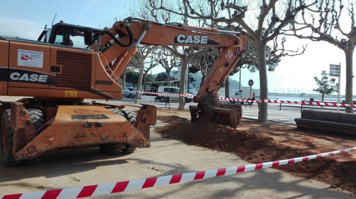 Reposició del sauló del Passeig del Mar