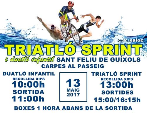 El Triatló Sprint Sant Feliu de Guíxols, demà passat