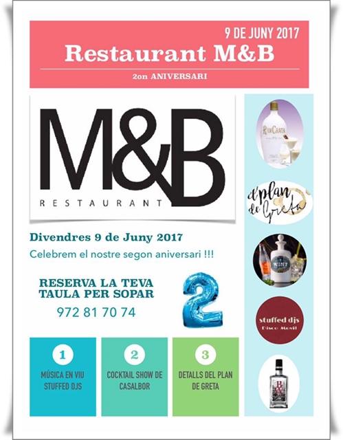 Segon aniversari al restaurant M&B Lounge de Platja d'Aro