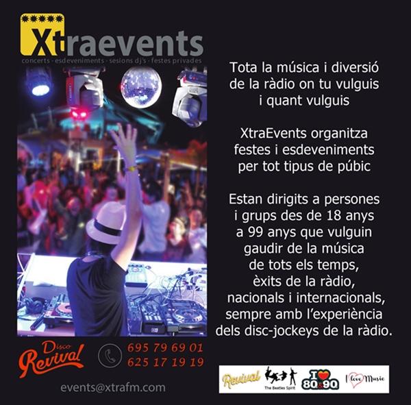 XtraEvents organitza  festes i esdeveniments per tot tipus de púbic