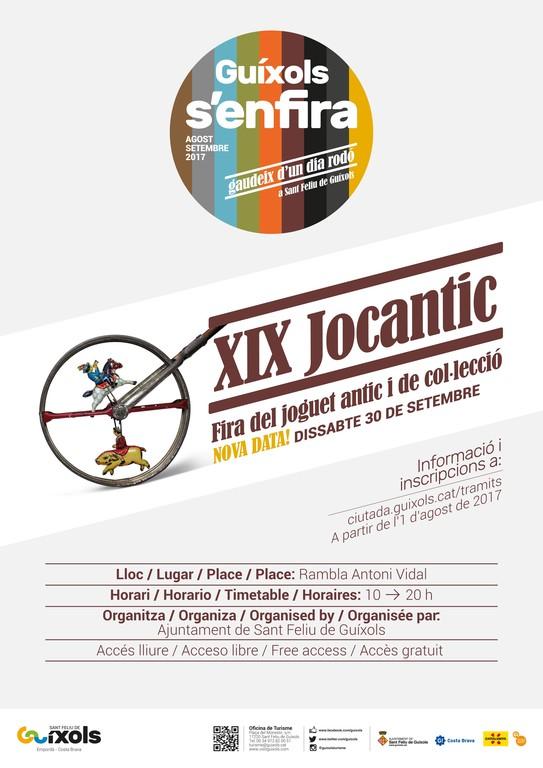 Dissabte, 19a edició de la Fira Jocantic de Sant Feliu de Guíxols