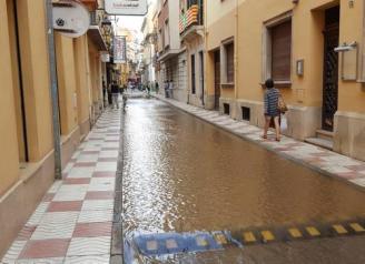 Rebenta una canonada d'aigua potable a Sant Feliu de Guíxols