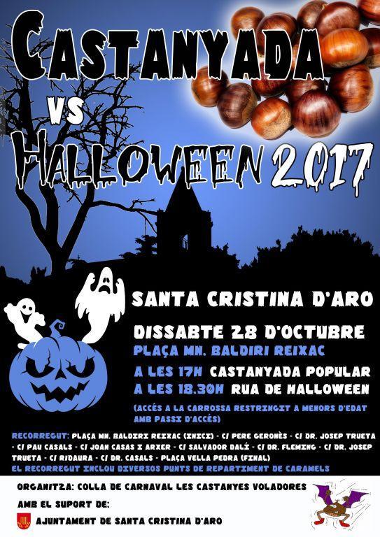 """Cinquena edició de la Castanyada """"versus"""" Halloween a Santa Cristina d'Aro"""