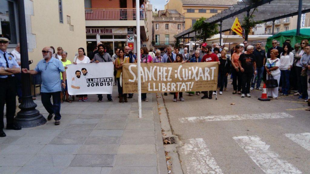 Concentració de suport als empresonats Cuixart i Sánchez