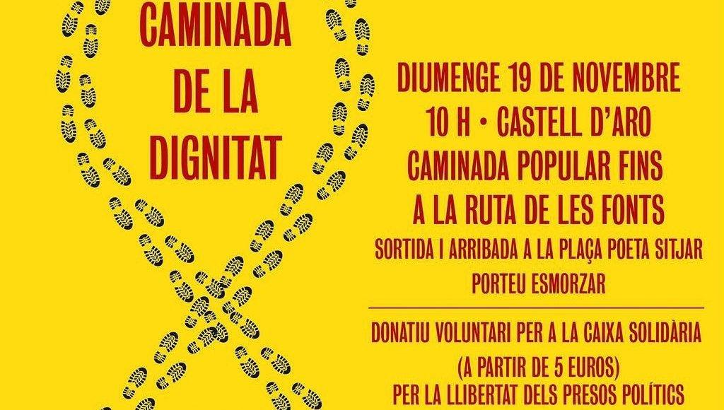 Caminada a Castell d'Aro per demanar la llibertat dels presos polítics