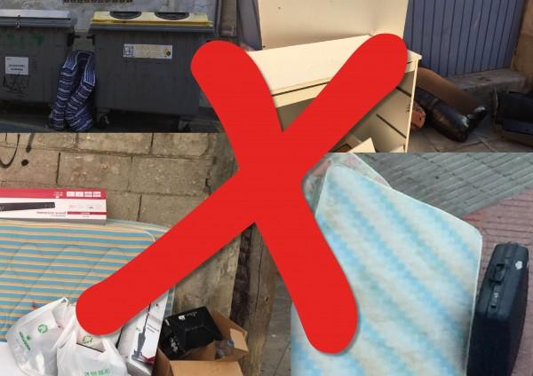 Prohibits els voluminosos i les andròmines al carrer: cal trucar!