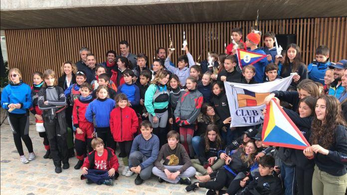 153 embarcacions participen en la categoria d'Optimist a la Guíxols Cup
