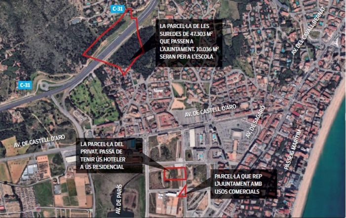 Platja d'Aro obté els terrenys per construir la nova escola Fanals d'Aro