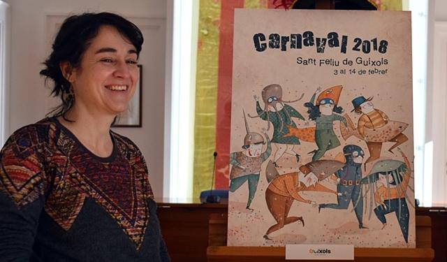 Roser Matas il·lustra el cartell de Carnaval de Sant Feliu de Guíxols
