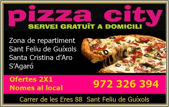 Pizza a domicili a Sant Feliu de Guíxols
