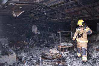 Un violent incendi destrossa l'antiga discoteca Pacha de Platja d'Aro