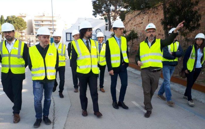 Visita d'obres dels representants de la Generalitat al Fortí