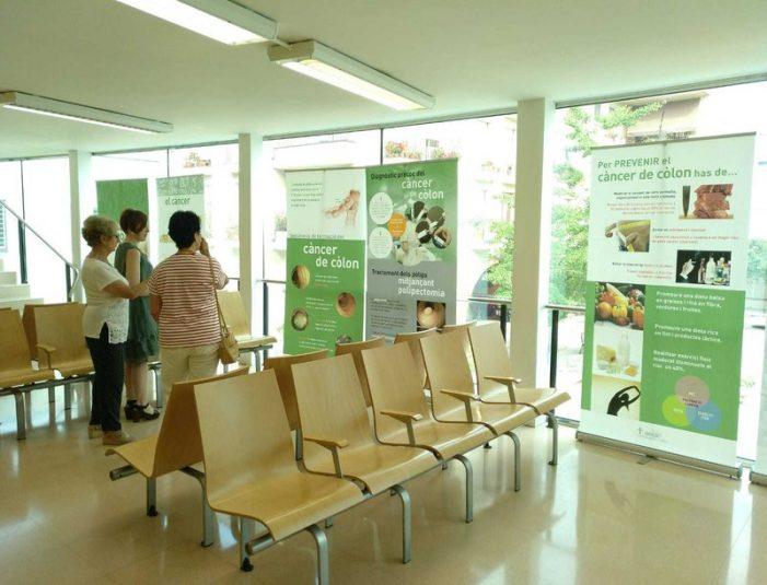 Exposició de l'AECC al CAP de Sant Feliu de Guíxols
