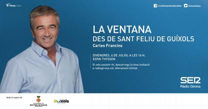 Carles Francino emetrà La Ventana, de la cadena SER, el proper divendres 6 de juliol
