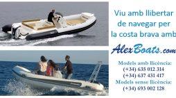 Viu amb llibertar de navegar per la costa brava amb Alex Boats