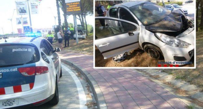 Tres joves es barallen, en veure la policia fugen amb el cotxe i s'accidenten amb un xofer al volant begut i drogat a Sant Feliu de Guíxols