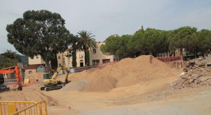 El parc Central de Sant Feliu avança més que el pàrquing