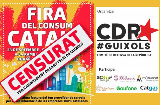 El govern municipal de Sant Feliu de Guíxols veta el CDR