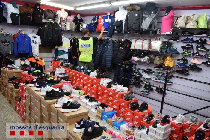Cop policial contra les falsificacions de roba a la demarcació de Girona