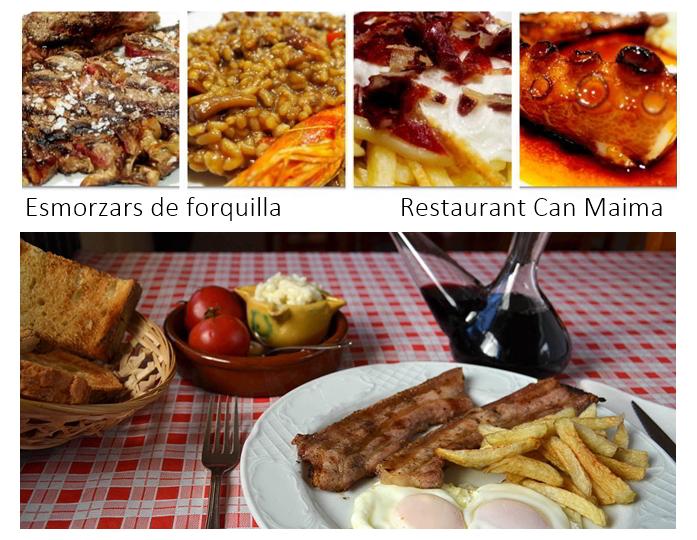 Aquesta tardor, Esmorzars de forquilla del restaurant Can Maima