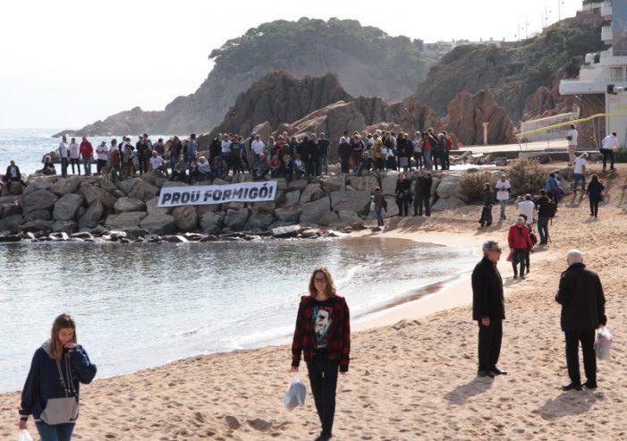 Protesta a Sant Feliu de Guíxols per la preservació de Rius i Calvet