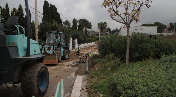 Comença la reforma a l'avinguda Església de Santa Cristina