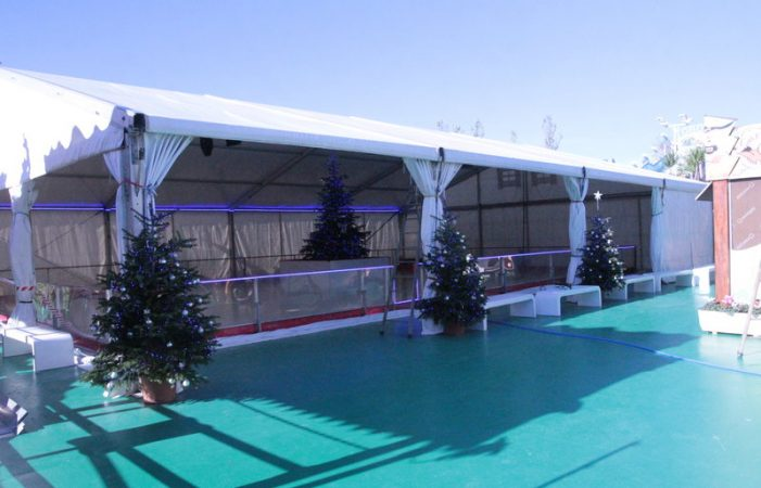 Pista de gel nova per nadal al parc PP's de Platja d'Aro