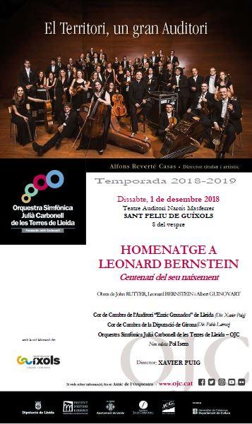 Homenatge a Leonard Bernstein al Teatre Auditori