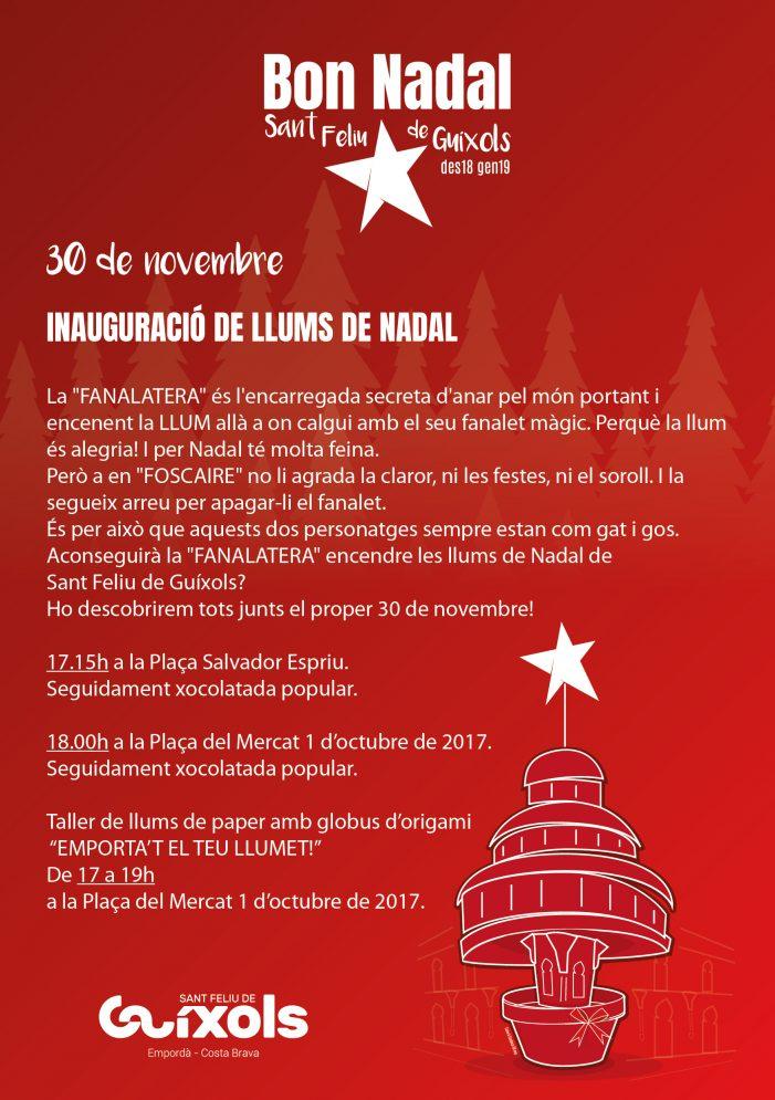Inauguració dels llums de Nadal 2018