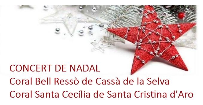 Dues corals cantaran al concert de Nadal de Santa Cristina