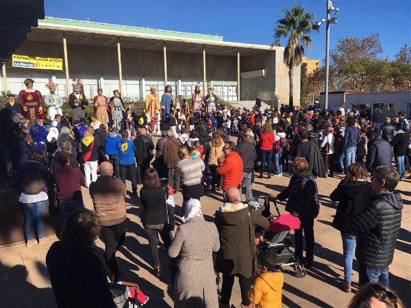 Gegants d'arreu de Catalunya es troben a Platja d'Aro amb motiu de la 1a Trobada Gegantera de la població