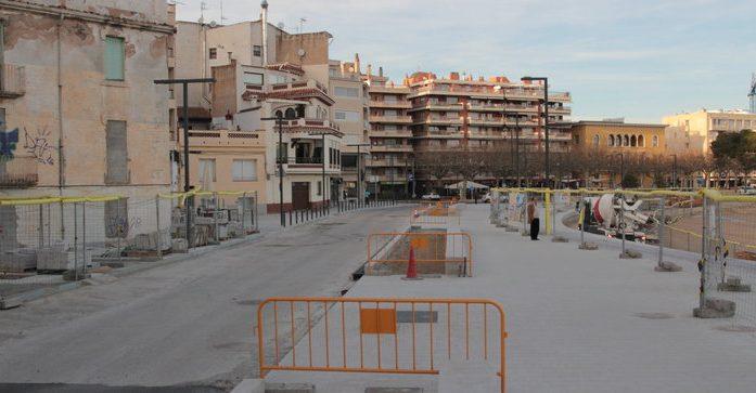 Tall viari de Rius i Calvet, a Sant Feliu, per pavimentar
