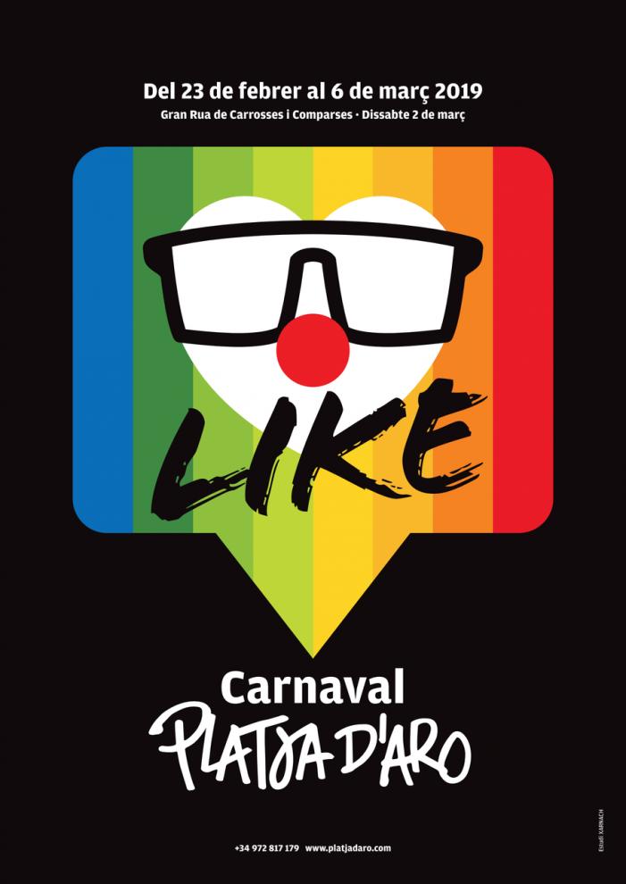 INSCRIPCIONS A LA GRAN RUA DE CARROSSES I COMPARSES DEL CARNAVAL DE PLATJA D'ARO 2019 A PARTIR DEL PROPER DIMARTS 5 DE FEBRER