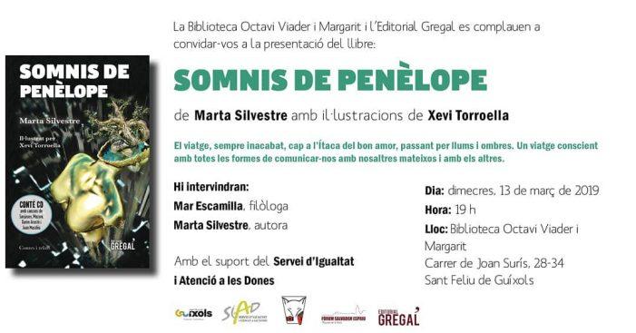 Presentació del llibre: Somnis de Penèlope de Marta Silvestre
