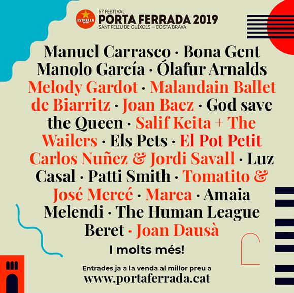 """Manolo García, Melody Gardot, Joan Báez, Rosario i Tomatito actuaran en l'edició més """"eclèctica"""" del Porta Ferrada"""