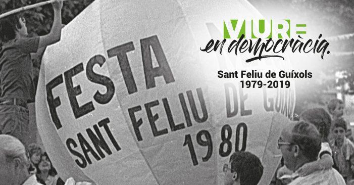 Presentació dels actes de commemoració Viure en Democràcia. Sant Feliu de Guíxols, 1979-2019.