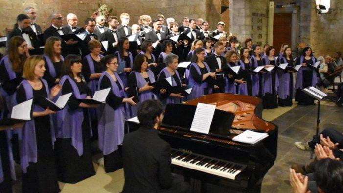 Ple del Cor de l'Orfeó Català a Sant Feliu