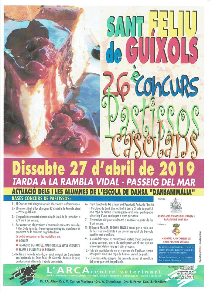 26è Concurs de Pastissos Casolans a Sant Feliu de Guíxols