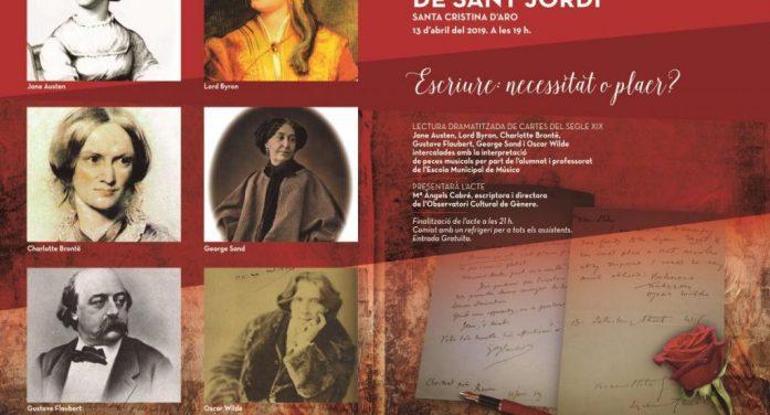 Santa Cristina d'Aro celebra la revetlla de Sant Jordi amb una lectura dramatitzada de cartes del segle XIX