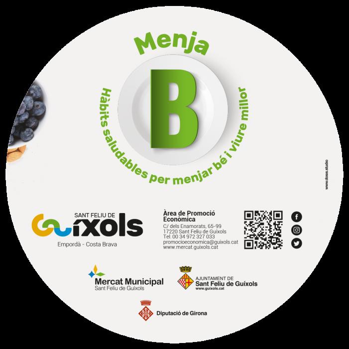 'Menja bé, viu millor!': Nova campanya sobre alimentació saludable a Sant Feliu de Guíxols