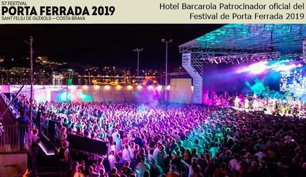 Hotel Barcarola patrocinador oficial del Festival de Porta Ferrada 2019