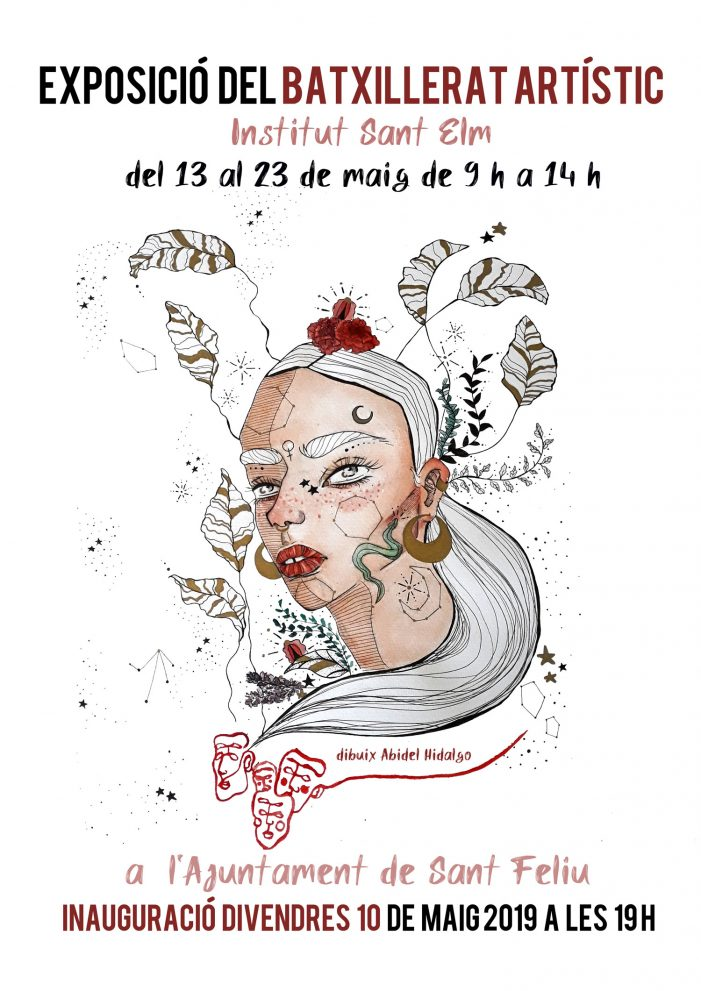 Inauguració de l'exposició dels treballs realitzats pels alumnes del Batxillerat Artístic de l'Institut Sant Elm
