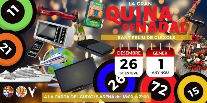 Aquesta Nadal torna la Gran Quina a l'envelat del Guíxols Arena