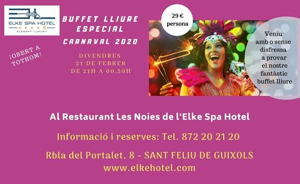 El CARNAVAL 2020 arriba al Restaurant Les Noies de l'Elke Spa Hotel