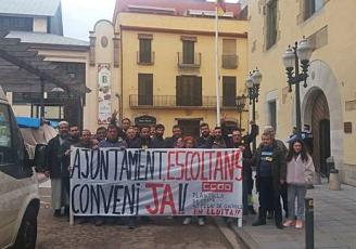 Sant Feliu Protesta de la plantilla de Cespa