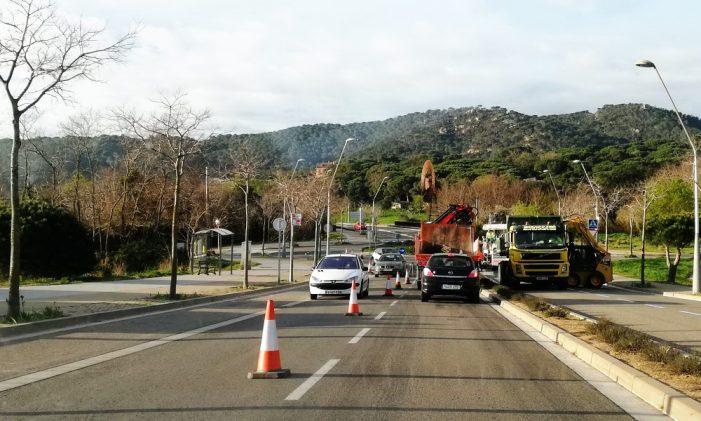 Ja s'han iniciat les feines d'asfalt a la Ronda de Ponent