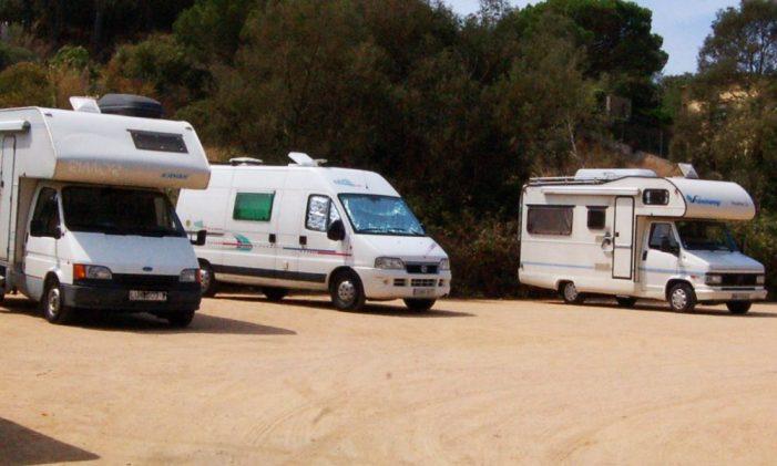 Es tanquen les tres àrees d'autocaravanes de Sant Feliu de Guíxols