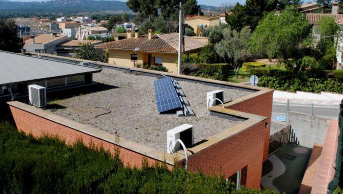 L'escola bressol enceta l'aposta per les energies renovables a Santa Cristina d'Aro
