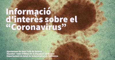 """Informació d'interès ciutadà sobre el """"Coronavirus"""""""